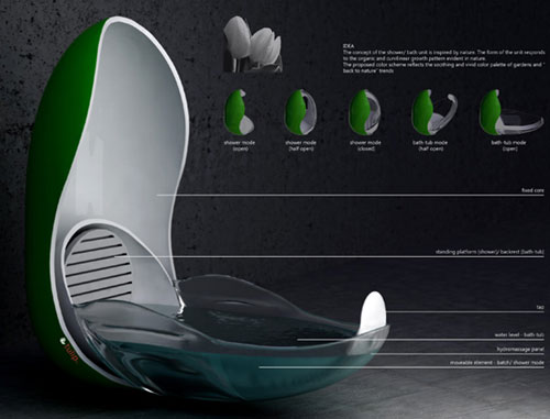 The Tulip Bath/Shower - High Tech Gadgets To Give Your Home A Futuristic Look