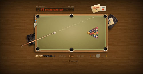 agent8ball.com HTML5 and CSS 3 inspiration showcase site
