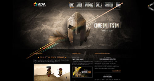 epicagency.net HTML5 and CSS 3 inspiration showcase site