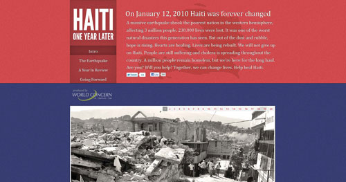 haitioneyear.org HTML5 and CSS 3 inspiration showcase site