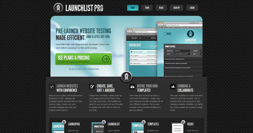 launchlist.net HTML5 and CSS 3 inspiration showcase site