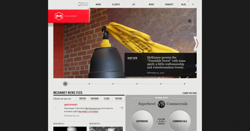 mckinney.com HTML5 and CSS 3 inspiration showcase site
