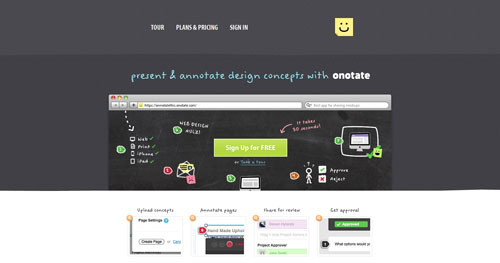 onotate.com HTML5 and CSS 3 inspiration showcase site