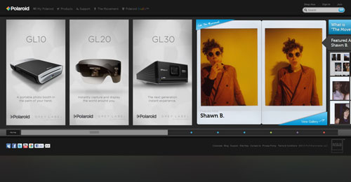 polaroid.com HTML5 and CSS 3 inspiration showcase site