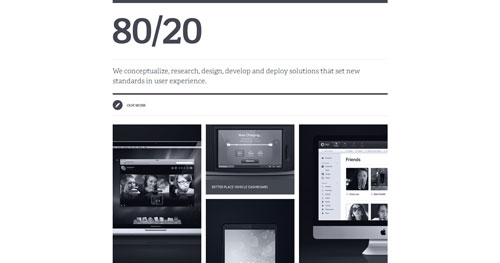 8020studio.com HTML5 and CSS 3 inspiration showcase site