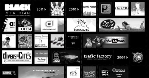 black-meridian.com HTML5 and CSS 3 inspiration showcase site