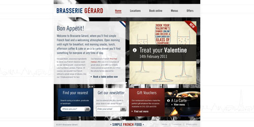 brasseriegerard.co.uk HTML5 and CSS 3 inspiration showcase site
