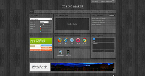 css3maker.com HTML5 and CSS 3 inspiration showcase site