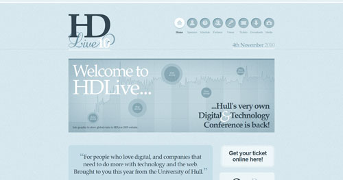 hd-live.co.uk HTML5 and CSS 3 inspiration showcase site