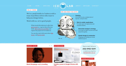 icelab.com.au HTML5 and CSS 3 inspiration showcase site