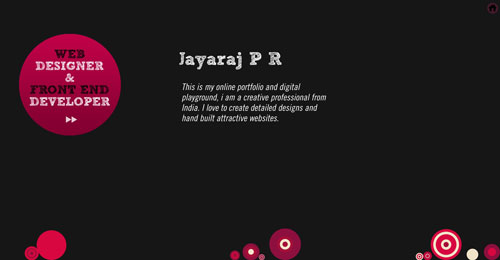 jayarajpr.com HTML5 and CSS 3 inspiration showcase site