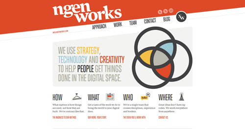 ngenworks.com HTML5 and CSS 3 inspiration showcase site