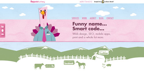 pinkturkey.com HTML5 and CSS 3 inspiration showcase site