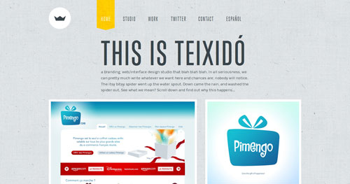 teixido.co HTML5 and CSS 3 inspiration showcase site