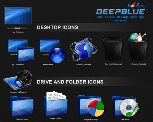 deepblue Iconpackager skin