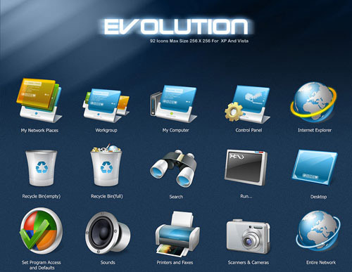 Evolution Iconpackager skin