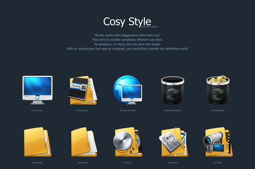 Cosy Style Iconpackager skin