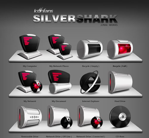 SilverShark Iconpackager skin