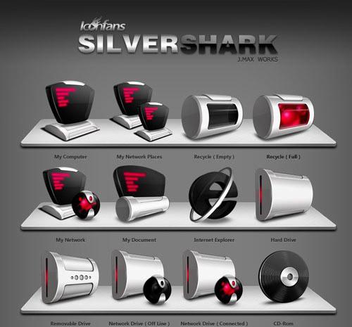 SilverShark Iconpackager skin
