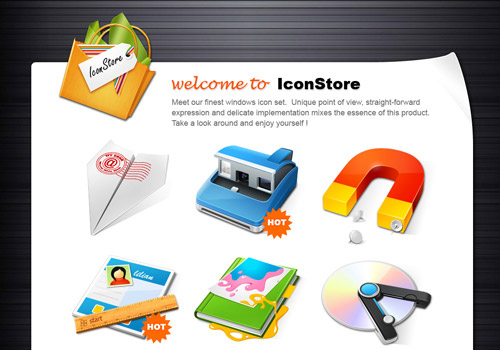 IconStore Iconpackager skin