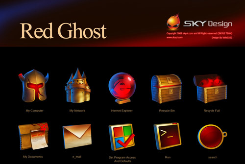 RED GHOST Iconpackager skin