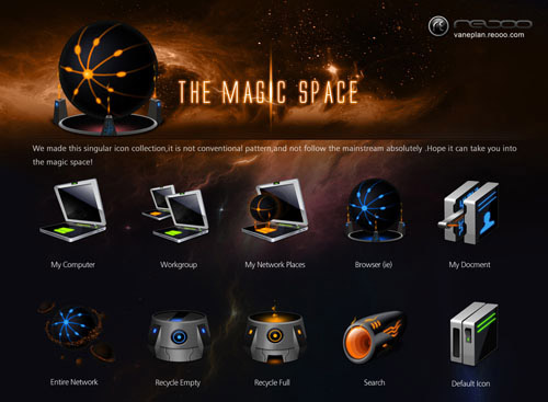 The Magic Space Iconpackager skin