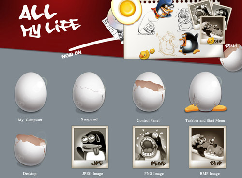 All my life Iconpackager skin