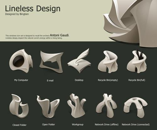 Lineless Design Iconpackager skin