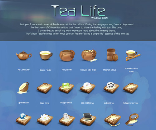 Tea Life Iconpackager skin