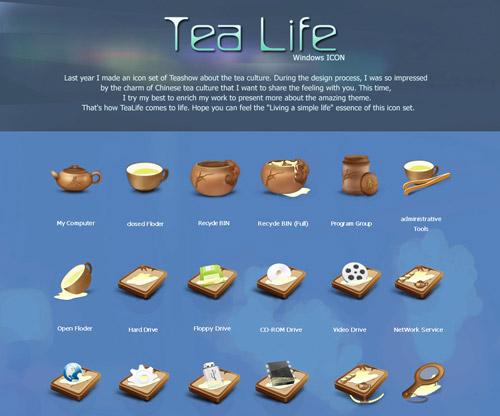 Tea Life Iconpackager skin