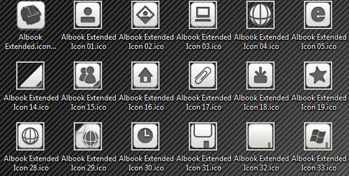 Albook extended Iconpackager skin