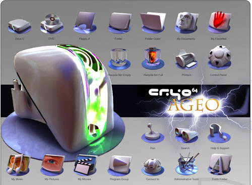 CRYO64 Ageo Iconpackager skin