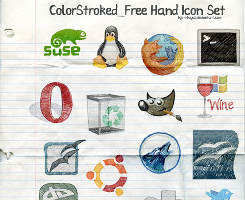 FreeHand ColorStroked Iconpackager skin