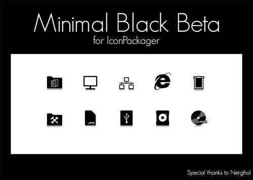 MinimalBlackBeta Iconpackager skin