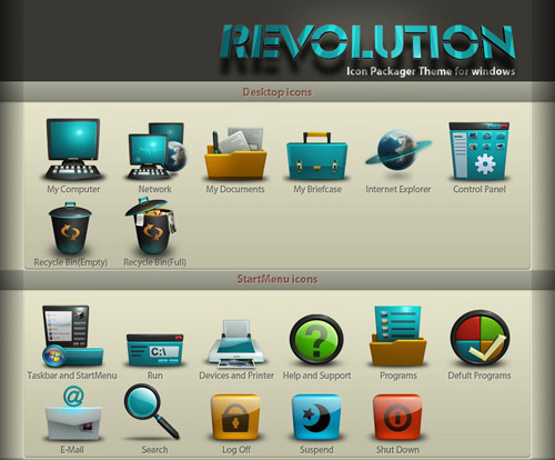 Revolution Iconpackager skin