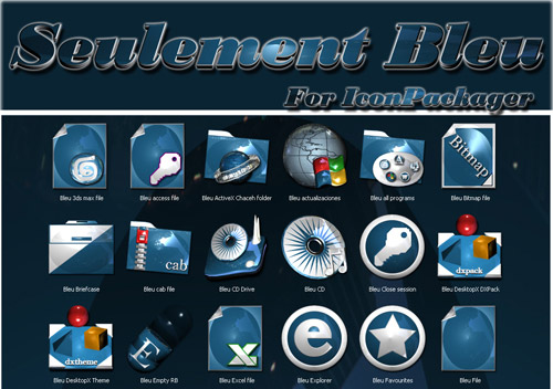 Seulement Bleu Iconpackager skin