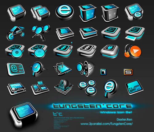 Tungsten Core Iconpackager skin