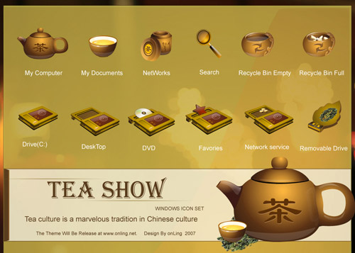 teashow Iconpackager skin