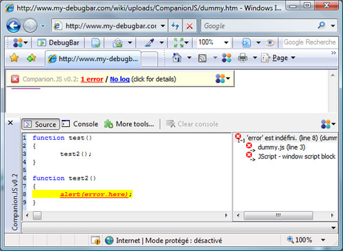 CompanionJS for Internet Explorer