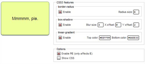 CSS3Pie for Internet Explorer