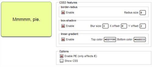 CSS3Pie for Internet Explorer