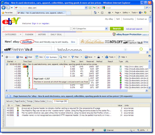 HttpWatch for Internet Explorer