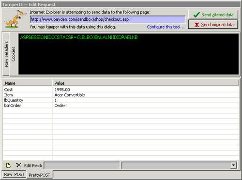 TamperIE for Internet Explorer