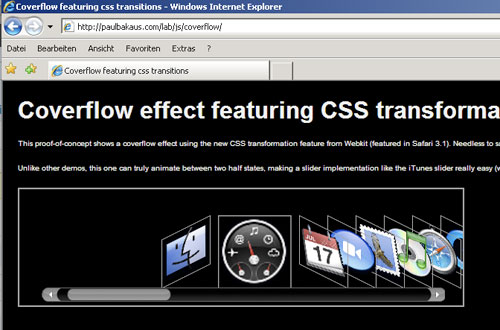 transformIE for Internet Explorer