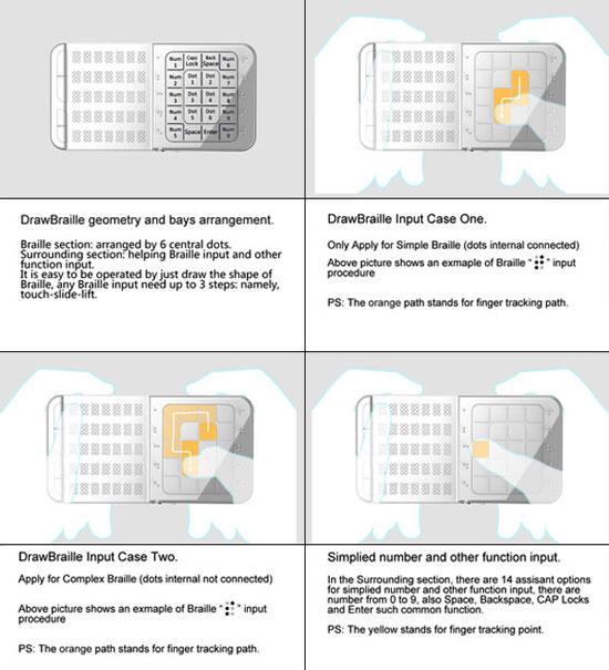 DrawBraille Mobile Phone 2 Industrial Design Concept Inspiration