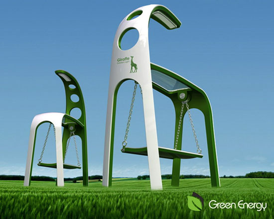Giraffe Street Lamp Industrial Design Concept Inspiration