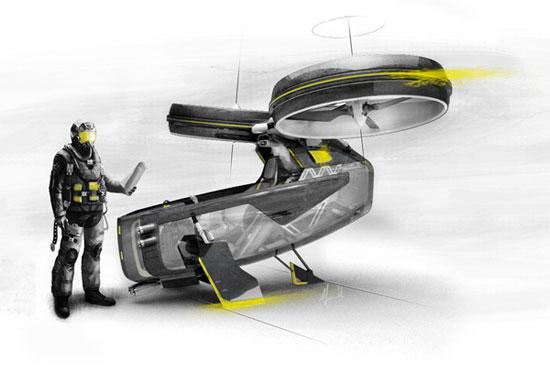 Megacity Aviation 2 Industrial Design Concept Inspiration