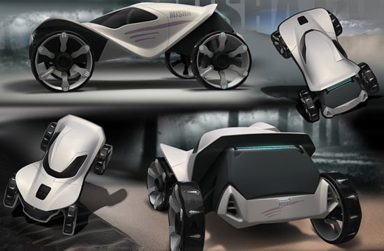 Misha all-terrain vehicle 2 Industrial Design Concept Inspiration