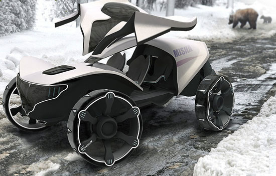 Misha all-terrain vehicle 3 Industrial Design Concept Inspiration