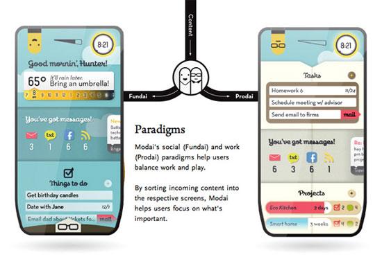 Modai Phone 2 Industrial Design Concept Inspiration